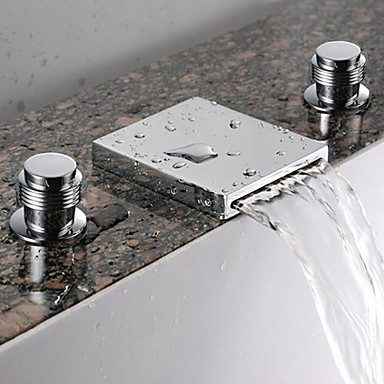 contemporary waterfall widespread three holes for chrome 86041