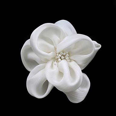abordables Coiffes-Femme Satin Imitation de perle Casque-Mariage Occasion spéciale Décontracté Fleurs