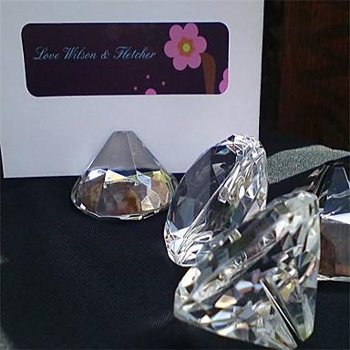 krystal sted kort indehavere gaveæske placecard indehavere bryllup reception