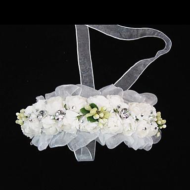 Tül / Kristal / Kumaş  -  Tiaras / Headbands 1 Düğün / Özel Anlar / Parti / Gece Başlık / Kağıt