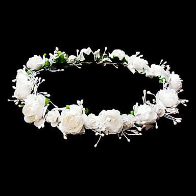 billige Hodeplagg til fest-Hodepynt bryllup blomsterpike krans med nydelige blomster