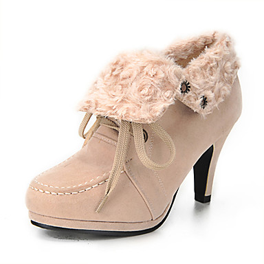 Suede Upper Stiletto Heel Ankle Boots With Lace-up Party/ Evening Shoes More Colors Available