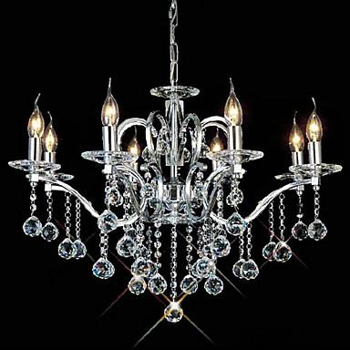 QINGMING® Svijeća stilu Lusteri Uplight - Crystal, 110-120V / 220-240V Bulb not included / 50-60㎡