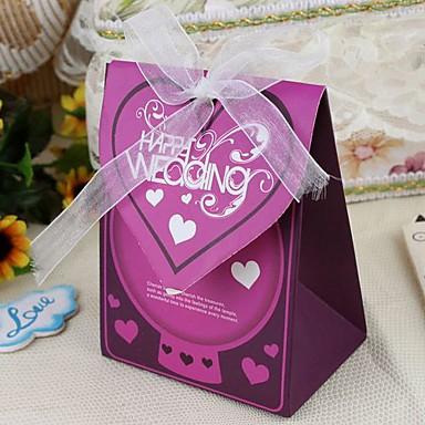 papel de cartão criativo favor titular com fitas favor bolsas-12 favores de casamento