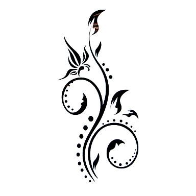 Tatoeagestickers Bloemen Series Patroon Waterproof Dames Girl Tiener Tijdelijke tatoeage Tijdelijke tatoeages
