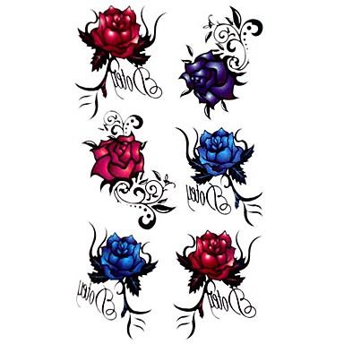 5 Pcs Rose Waterproof Temporary Tattoo(17.5cm*10cm)