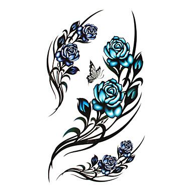 Dövme Etiketleri geçici Dövme Çiçek Serisi / Romantik Seri Tek Kullanımlık / Yüksek kalite, formaldehit içermez body Art Vücut / Bacak / geri