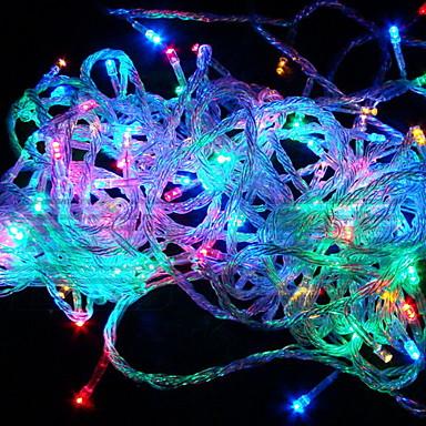 10m Žice sa svjetlima 100 LED diode RGB Promjenjive boje 110 V