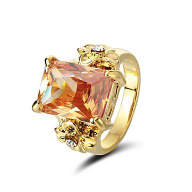 couleurs magnifiques anneaux zircon Plaqué or 18k plus disponible