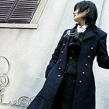 britânico estilo jacquard de lã grossa clássico casaco lolita