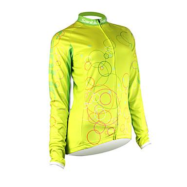 SANTIC Bicicletta/Ciclismo Maglietta/Maglia / Top Per donna Maniche lunghePermeabile all'umidità / Asciugatura rapida / Zip anteriore /