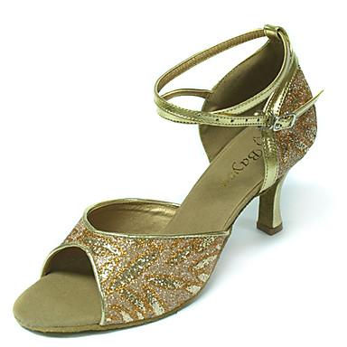 raso mujeres bailan superior zapatos de salón latinos más colores de los zapatos
