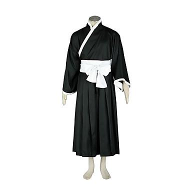 Esinlenen Cosplay Cosplay Anime Cosplay Kostümleri Cosplay Takımları Kimono Kırk Yama Uzun Kollu Kemer Hakama Pantolonu Kimono Palto