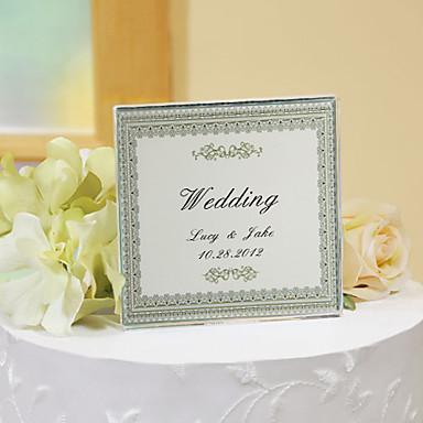 kişiselleştirilmiş kristal düğün pastası kaban - sade şıklığı