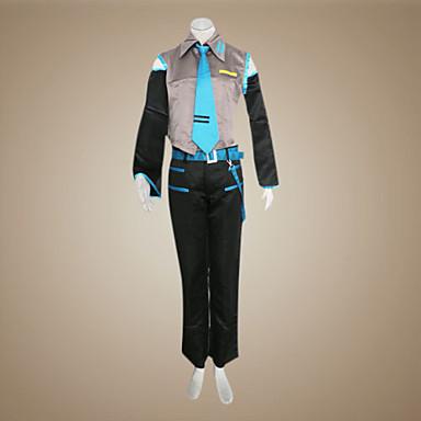 Εμπνευσμένη από Vocaloid Mikuo Βίντεο Παιχνίδι Στολές Ηρώων Κοστούμια Cosplay Patchwork Αμάνικο Πουκάμισο Παντελόνια Μανίκια Ζώνη Γραβάτα