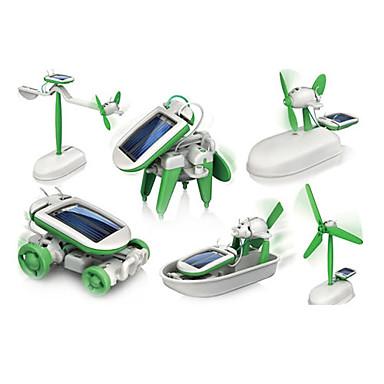 hesapli Oyuncaklar ve Oyunlar-6 In 1 Robot Oyuncak Arabalar Güneş Enerjili Oyuncaklar Güneş Enerjisi ile çalışır Plastik ABS Genç Erkek Genç Kız Oyuncaklar Hediye