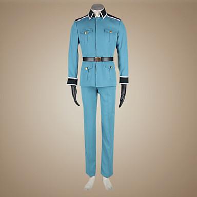 קיבל השראה מ Hetalia Germany Ludwig Beillschmidt אנימה תחפושות קוספליי חליפות קוספליי אחיד שרוול ארוך מעיל מכנסיים כפפות חגורה עבור בגדי