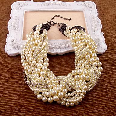 abordables Colliers-Collier de perles Femme Poire Imitation de perle Comme l'image Ivoire 35-45 cm Colliers Tendance Bijoux 1pc pour Soirée Anniversaire Cadeau Irrégulier