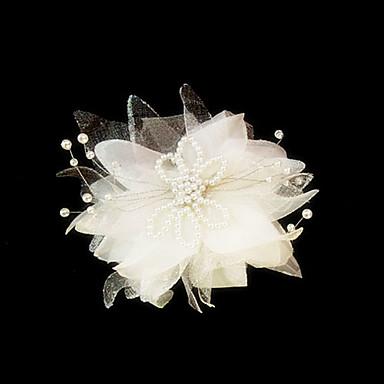 Mulheres Cetim Imitação de Pérola Capacete-Casamento Ocasião Especial Fascinador Flores