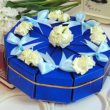 élégante boîte de faveur gâteau (jeu de 10)