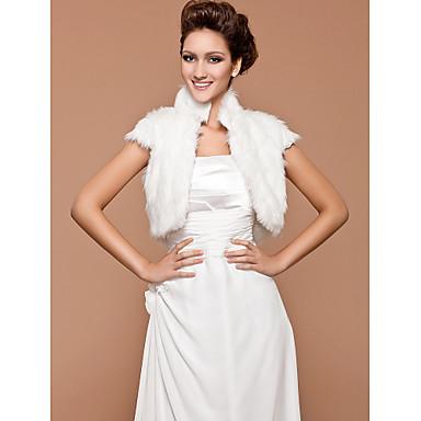 Short Sleeve Feather/ Fur Wedding/ Party Jacket/ Wrap
