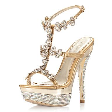 c4512e68e sandálias de salto agulha de cetim / plataforma com sapatos de strass  casamento / festa da noite de 291082 2019 por $149.99
