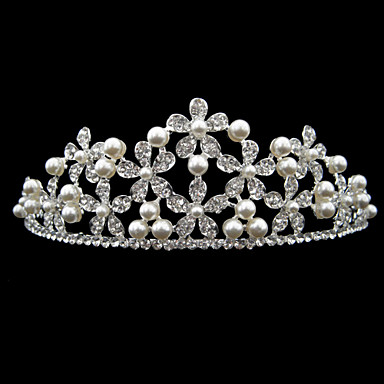 Alloy Tiaras Headpiece Wedding Party Elegant Classical Feminine Style