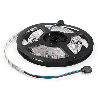 5m Joustavat LED-valonauhat / RGB-valonauhat 300 LEDit 5050 SMD RGB Vaihtuva väri 12 V / IP44
