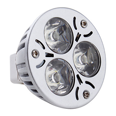 3 W 260-300 lm GU5.3(MR16) LED Σποτάκια MR16 3 leds LED Υψηλης Ισχύος Φυσικό Λευκό DC 12V