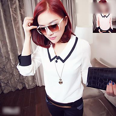 Long Sleeve Schoolgirl's Style Shirt