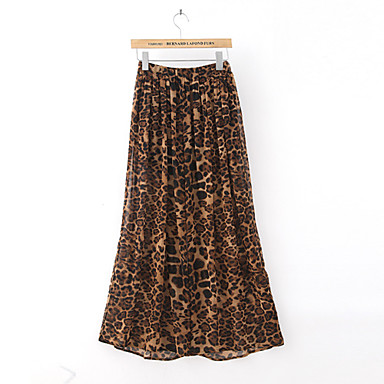 Leopard Print Chiffon Loose Wide Leg Pants