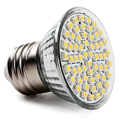3.5W 300-350lm E26 / E27 LED Spot Işıkları PAR38 60 LED Boncuklar SMD 3528 Sıcak Beyaz 220-240V