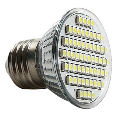 3W 6000 lm E26/E27 LED Spot Işıkları MR16 60 led SMD 3528 Doğal Beyaz AC 220-240V