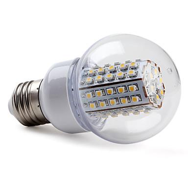 2800lm E26 / E27 LED-pallolamput G60 66 LED-helmet SMD 3528 Lämmin valkoinen 220-240V