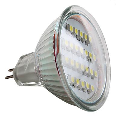 60lm GU5.3(MR16) LED Spot Lampen MR16 24 LED-Perlen SMD 3528 Natürliches Weiß 12V / # / #