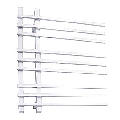 90W Elegance Wall Mount Mirror Polished Finish Square Pipe Towel Warmmer Drying Rack