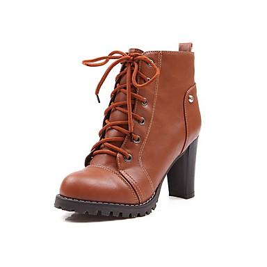 imitación piel botas de tacón grueso del tobillo o del partido o plataforma de eveningshoes (más colores)