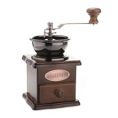 creativ clasic manual din lemn de cafea moale de cafea reglabil