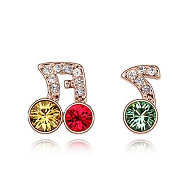 delicados platinadas de cristal brincos redondos (mais cores)