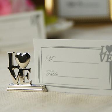 bordkort og holdere sølv kjærlighet sted kortholdere