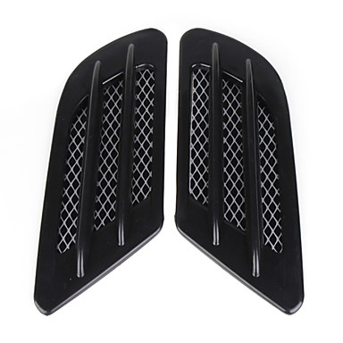 Black Car Decoration Stickers (Pair)