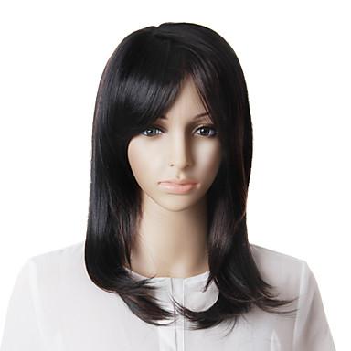 Capless Mode lange glatte Haare Perücke