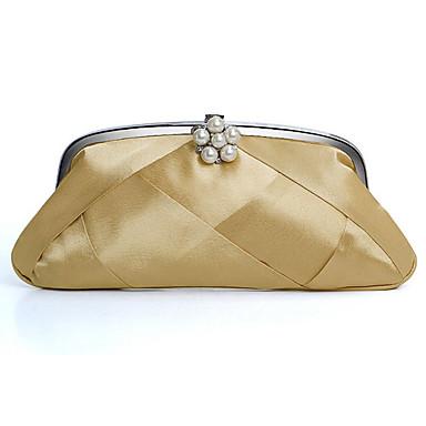 satinato con perla sera imitazione borse / frizioni più colori disponibili