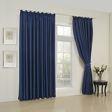 Curtains Drapes Bedroom Solid Colored 65% Rayon / 35%Polyester Rayon