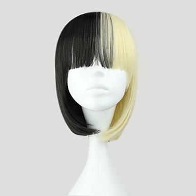 Lolita Wigs Punk Lolita Dress Black Color Gradient Lolita Wig 35 CM Cosplay Wigs Color Block Wig For
