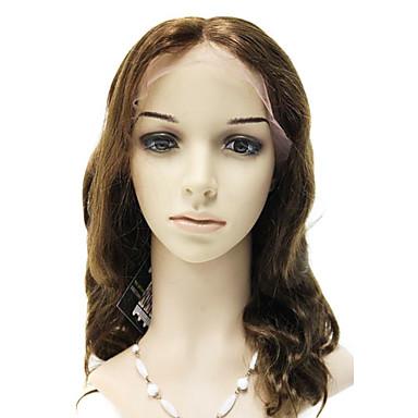Lace Front 100% Brazilië Remy Hair Body Wave Pruik met lang