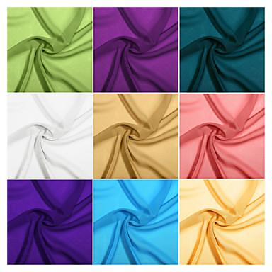 32 renk ile 1 yard tarafından şifon kumaş renk örneği