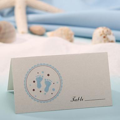 yer kartı - mavi ayaklar yazdır (12 kümesi) düğün alımı güzel
