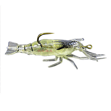 4 kom Soft Bait Csali Čovječuljak Soft Bait Silicon Svjetleći Morski ribolov Slatkovodno ribarstvo Bas ribolov