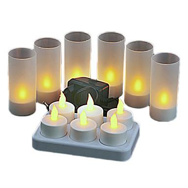 6pcs lm LED Mum Işıklar led Yüksek Güçlü LED Dekorotif